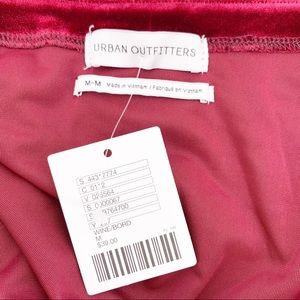 Urban Outfitters Tops - NEW Urban Outfitters Velvet Tie Front Top Sz M
